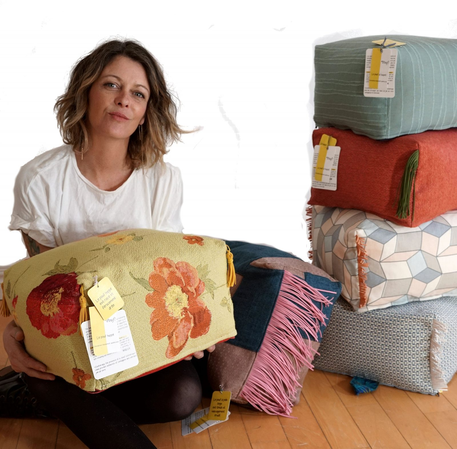 Des poufs «made in Farnham» signés Cathy St-Germain
